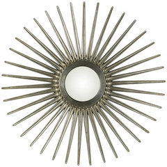 Buy Cooper Classics Sunburst 55x55 Mirror in Antique Silver on sale online