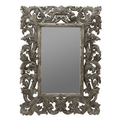 Buy Cooper Classics Tara 51x35 Mirror in Silver Crackle on sale online