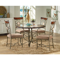 Buy Steve Silver Thompson 5 Piece 45x45 Round Dining Room Set on sale online