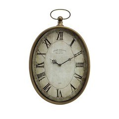 Buy IMAX Worldwide Toledo Oval Brass Clock on sale online