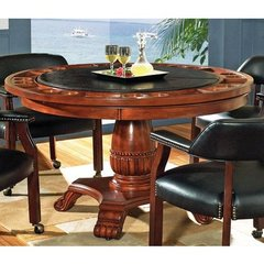 Buy Steve Silver Tournament 50 Inch Round Game Table in Rich Cherry and Black on sale online
