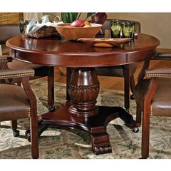 Buy Steve Silver Tournament 50 Inch Round Game Table in Rich Cherry on sale online