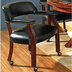 Buy Steve Silver Tournament Game Chair on Casters in Black on sale online