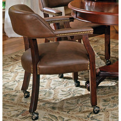Buy Steve Silver Tournament Game Chair on Casters in Brown on sale online