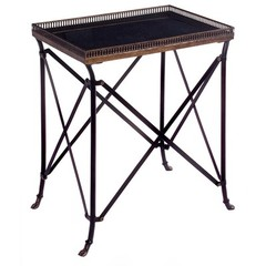 Buy IMAX Worldwide Traditional 21x15 Rectangle Accent Table in Black on sale online