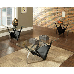 Buy Steve Silver Tribecca 3 Piece Occasional Table Set in Black Metal on sale online