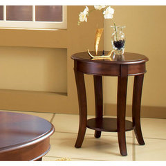Buy Steve Silver Troy 20 Inch Round End Table in Rich Cherry on sale online
