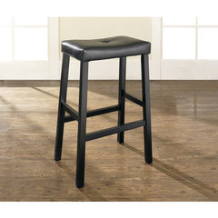 Buy Crosley Furniture Upholstered Saddle Seat 29 Inch Barstool in Black on sale online