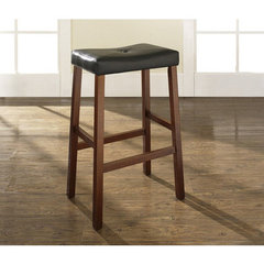 Buy Crosley Furniture Upholstered Saddle Seat 29 Inch Barstool in Classic Cherry on sale online