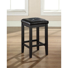 Buy Crosley Furniture Upholstered Square Seat 24 Inch Barstool in Black on sale online