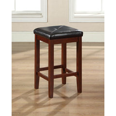 Buy Crosley Furniture Upholstered Square Seat 24 Inch Barstool in Classic Cherry on sale online