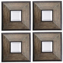 Buy Uttermost 16 Inch Square Fendrel Squares Mirror in Wood (set of 4) on sale online
