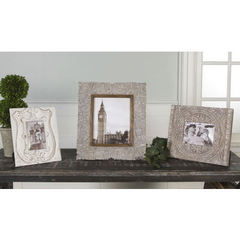 Buy Uttermost 16x14 Askan Photo Frames in Antique White (set of 3) on sale online