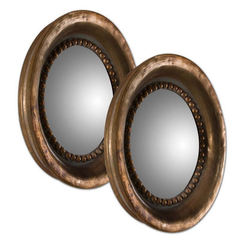 Buy Uttermost 18 Inch Round Tropea Rounds Mirror in Wood (set of 2) on sale online