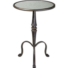 Buy Uttermost Anais 19 Inch Round Mirrored Accent Table on sale online