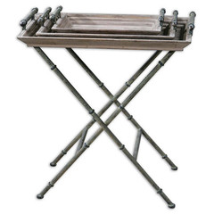 Buy Uttermost Coyne 30x17 Rectangular Folding Tray Table on sale online