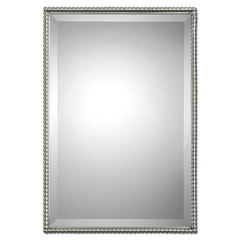 Buy Uttermost 31x21 Rectangular Sherise Mirror in Brushed Nickel on sale online