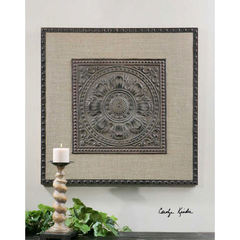 Buy Uttermost 32 Inch Square Filandari Wall Art in Stamped Metal on sale online