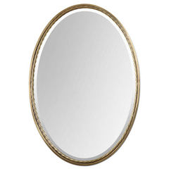 Buy Uttermost 32x22 Oval Casalina Mirror in Brass on sale online