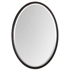 Buy Uttermost 32x22 Oval Casalina Mirror in Oil Rubbed Bronze on sale online