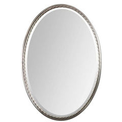 Buy Uttermost 32x22 Oval Casalina Oval Mirror in Nickel on sale online
