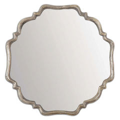Buy Uttermost 33 Inch Square Valentia Mirror in Silver on sale online