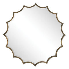 Buy Uttermost 34 Inch Round San Mariano Mirror in Starburst on sale online