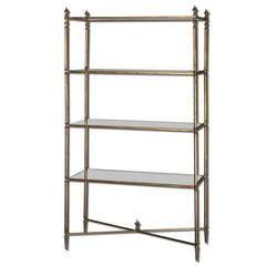 Buy Uttermost Henzler 34x14 Rectangular Etagere w/ Mirrored Glass on sale online