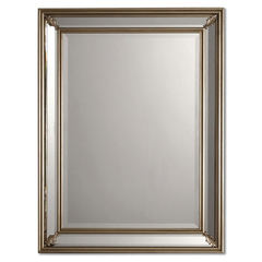 Buy Uttermost 34x26 Rectangular Jansen Mirror in Silver on sale online
