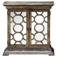 Buy Uttermost 35x10 Glasson Mirrored Console Cabinet on sale online