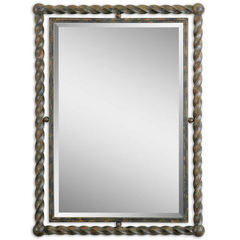 Buy Uttermost 35x26 Rectangular Garrick Mirror in Wrought Iron on sale online