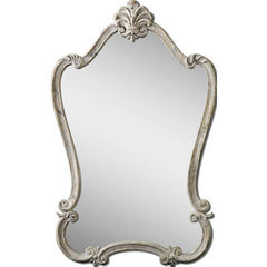 Buy Uttermost 36x22 Rectangular Walton Hall Mirror in Antique White on sale online