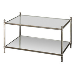 Buy Uttermost Gannon 36x23 Rectangular Coffee Table w/ Mirrored Glass on sale online