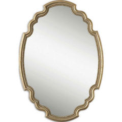 Buy Uttermost 39x28 Oval Terelle Mirror in Gold on sale online