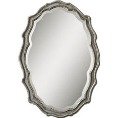 Buy Uttermost 40x28 Oval Dorgali Slate Mirror in Blue on sale online
