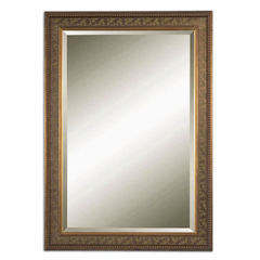 Buy Uttermost 42x30 Rectangular Tronzano Mirror in Gold on sale online