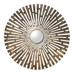 Buy Uttermost 45 Inch Round Tremeca Brass Starburst Mirror on sale online