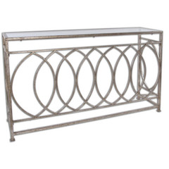 Buy Uttermost Aniya 60x16 Rectangular Console Table w/ Glass Top on sale online