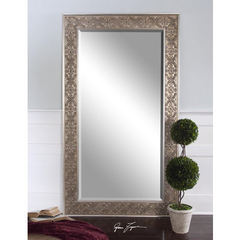 Buy Uttermost 70x40 Rectangular Villata Antique Mirror in Silver on sale online