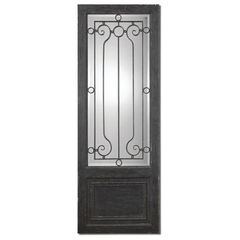 Buy Uttermost 75x27 Rectangular Teulada Distressed Mirror in Black on sale online