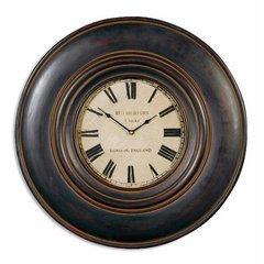 Buy Uttermost Adonis Clock in Distressed Black on sale online