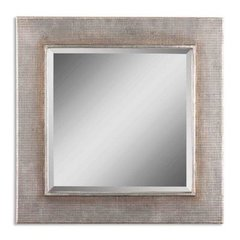 Buy Uttermost Afton 34 Inch Square Wall Mirror in Silver on sale online