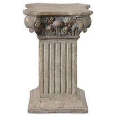Buy Uttermost Alben Plinth in Aged Ivory and Gold on sale online