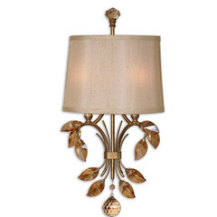 Buy Uttermost Alenya 2 Light Wall Sconce in Gold on sale online