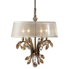 Buy Uttermost Alenya 4 Light Chandelier in Gold Metal on sale online