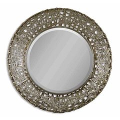 Buy Uttermost Alita Champagne 32 Inch Round Wall Mirror in Black on sale online