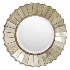 Buy Uttermost Amberlyn 32 Inch Round Wall Mirror in Antiqued Gold on sale online
