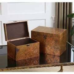 Buy Uttermost Ambrosia Copper Boxes - Set of 2 on sale online