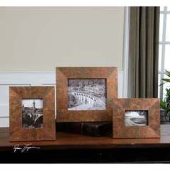 Buy Uttermost Ambrosia Copper Photo Frames - Set of 3 on sale online
