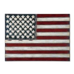 Buy Uttermost American Flag 36x26 Wall Art on sale online